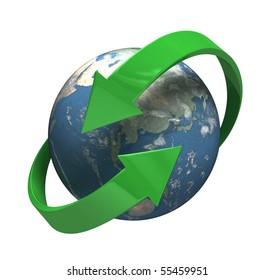 Round the Globe - [isolated on white background]