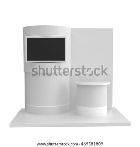 Round Stand Design Exhibition Tv Display Stock Illustration Adorable Exhibition Tv Display Stands