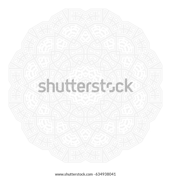 Round symmetrical pattern. Kaleidoscopic design, Can be used for coloring book page