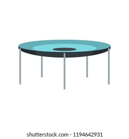 Round trampoline icon. Flat illustration of round trampoline icon for web design