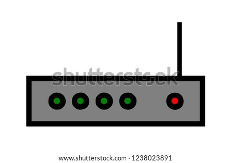 Prime Router Wifi Icon Network Diagram Stock Illustration Royalty Free Wiring Digital Resources Helishebarightsorg