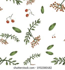 rowan pattern on a green background