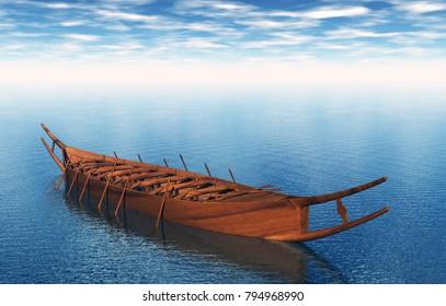 Rowing Boat 3D rendering