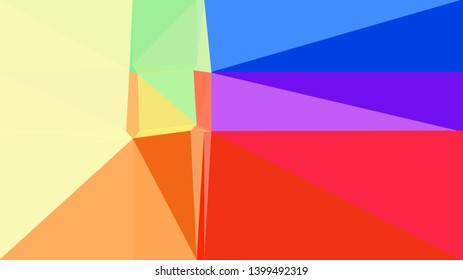 royal blue, crimson and pale golden rod color background with triangles. triangles style of different size and shape. simple geometric background for poster, cards, wallpaper or texture.