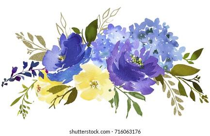 Imagenes Fotos De Stock Y Vectores Sobre Watercolor Flowers