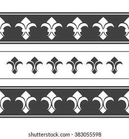Royal horizontal seamless borders