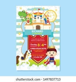 Royal Party Invitation with cute little prince