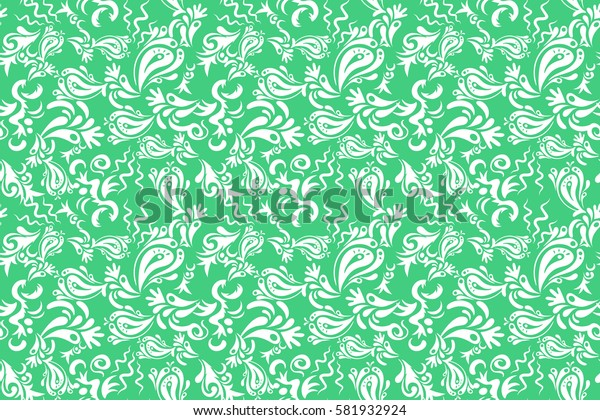 Royal wallpaper. Raster stylish ornament. Abstract flowers on a black background. Damask seamless floral pattern.