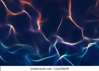 Royalty-free abstract blue orange background. High quality image. Light leaks. Can use overlay.