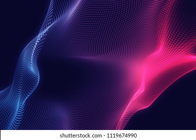 Royalty-free abstract blue and violet lines background. High quality image. Light leaks. Can use overlay.