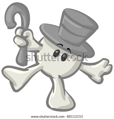 Royaltyfree Clipart Picture White Konkee Character Stockillustration
