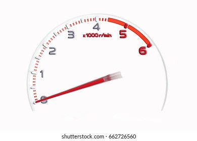 rpm gauge sign symbol in racing car. illustration design.