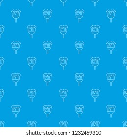 RT sign pattern seamless blue repeat for any use
