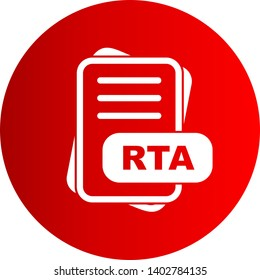RTA File Format Icon For Your Project