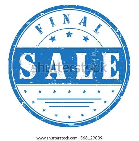 Rubber Stamp Final Sale Bitmap