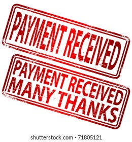 """Rubber stamp illustration showing """"PAYMENT RECEIVED"""" text"""