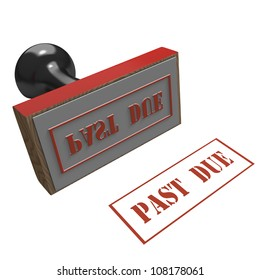 Rubber Stamp on a white background with message of Past Due