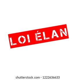 Rubber stamp with text French Elan law
