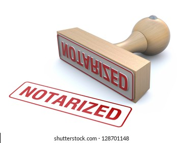 Rubber stamp-notarized