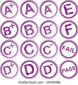 rubber stamps for school grades