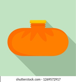 Rubber warmer icon. Flat illustration of rubber warmer icon for web design