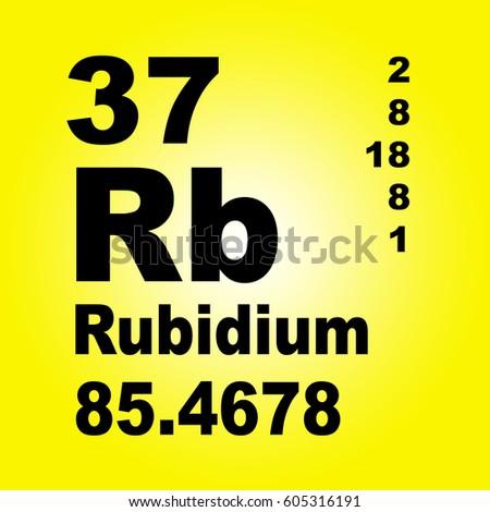 Rubidium Periodic Table Elements Stock Illustration 605316191