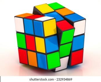 Rubik's Cube on a white background