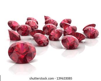 Ruby or Rodolite gemstone (high resolution 3D image)