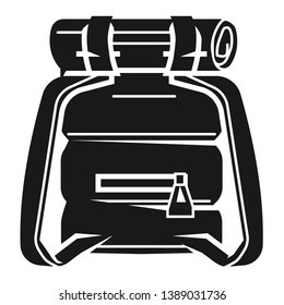 Rucksack icon. Simple illustration of rucksack icon for web design isolated on white background