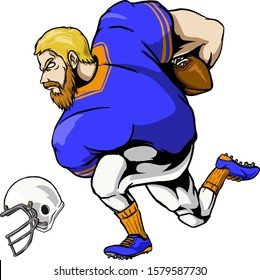 rugby or american football player