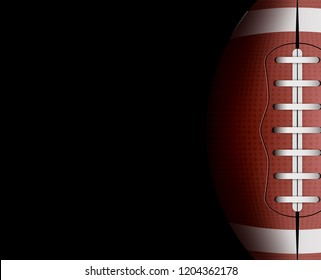 rugby ball background. Football sport game competition. Leather ball equipment illustration. Rugby team players list.