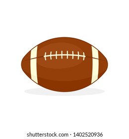 Rugby ball icon. Sport clip art isolated on white background