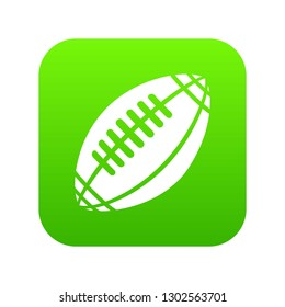 Rugby icon green isolated on white background
