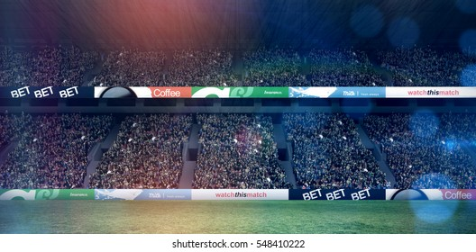 Rugby stadium copy space 3d
