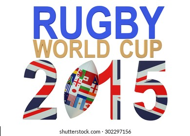 Rugby World Cup 2015 Great Britain concept isolated on white background