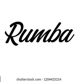 rumba label on white background