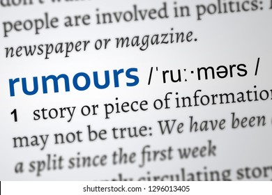 rumours definition of the word