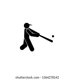 run man sport baseball glyph icon. Element of baseball sport illustration icon. Signs and symbols can be used for web, logo, mobile app, UI, UX on white background