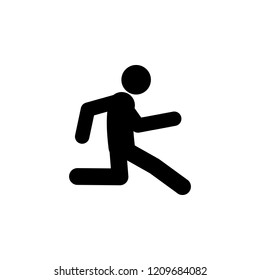 run, slowly icon. Element of walking and running people icon for mobile concept and web apps. Detailed run, slowly icon can be used for web and mobile