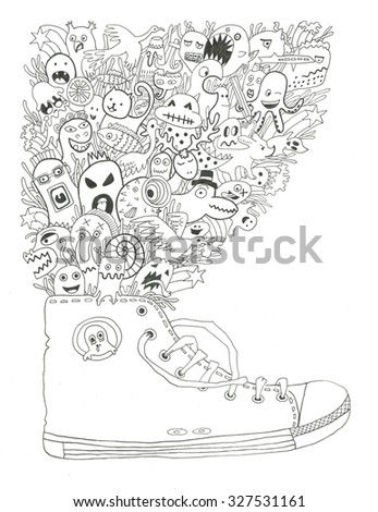 Running Shoe Coloring Page Stock Illustration 327531161 Shutterstock
