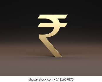 Rupee Indian currency - 3D Rendering Image