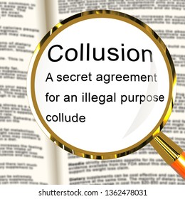 Russia Collusion Definition Depicting Conspiracy And Cooperation With The Russian Government 3d Illustration. Dirty Politics In The United States