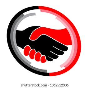 Russia Collusion Hands Depicting Conspiracy And Cooperation With The Russian Government 3d Illustration. Dirty Politics In The United States