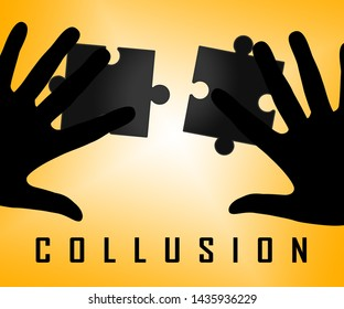 Russia Collusion Jigsaw Depicting Conspiracy And Cooperation With The Russian Government 3d Illustration. Dirty Politics In The United States