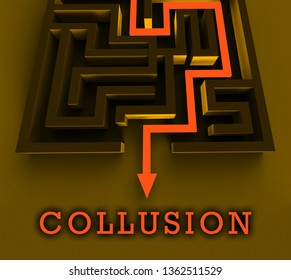 Russia Collusion Maze Depicting Conspiracy And Cooperation With The Russian Government 3d Illustration. Dirty Politics In The United States