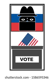 Russia hacking in US election. Security threats due to Russian interference in the electoral campaign.