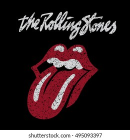 RUSSIA - OCTOBER 07, 2016: The Rolling Stones logo