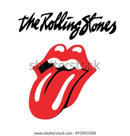 Russia October 07 2016 Rolling Stones Stock Illustration Royalty