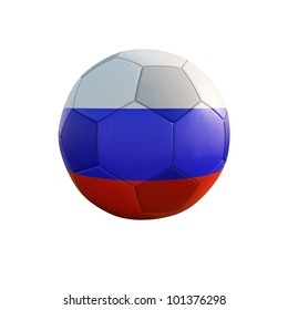 russia soccer ball isolated on white