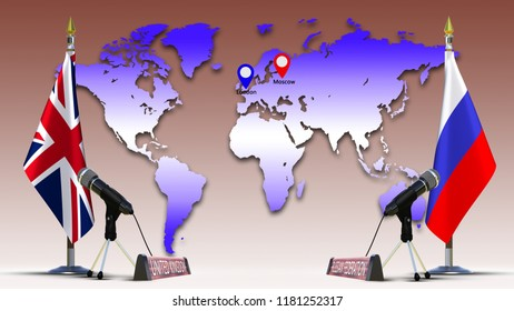 3d world map with names images stock photos vectors shutterstock russia and uk flags negotiate and talking speech russian united kingdom flag on metal rack with gumiabroncs Images
